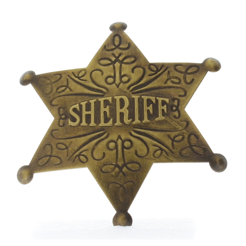 Embossed with Raised Lettering Sheriff Replica Pin Back