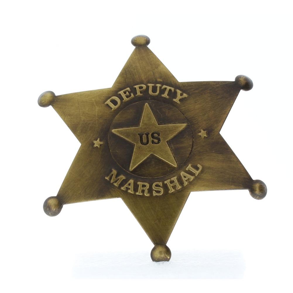 Embossed US Deputy US Old Western Replica Pin Back