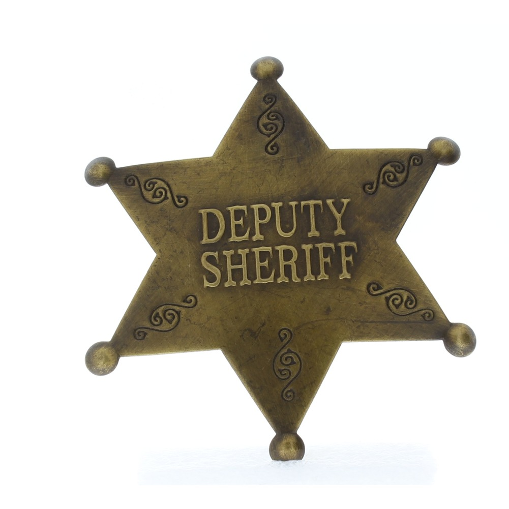 Embossed with Raised Lettering Deputy Sheriff Replica Pin Back