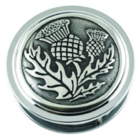 Pewter AE Williams Celtic Desk Magnifier Magnifying Glass Scottish Thistle