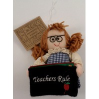 Teachers Rule Gift Card Holder Holiday Ornament