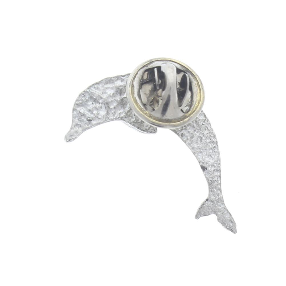 A.E. Williams Fine Brittish Pewter Lapel Hat Pin Single Dolphin  #35200