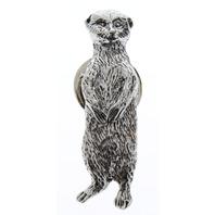 A.E. Williams Fine Brittish Pewter Lapel Hat Pin Meerkat  #35233