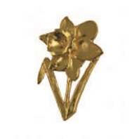 A.E. Williams Fine Brittish Pewter Lapel Hat Pin Daffodil Flower #35618