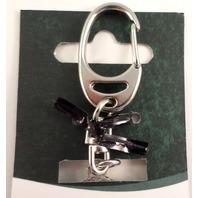 A.E. Williams Fine Brittish Pewter Lion Celtic Design Keychain Key Fob #35804Kr