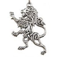 A.E. Williams Fine Brittish Pewter Lion Celtic Design Keychain Key Fob #35804Kr