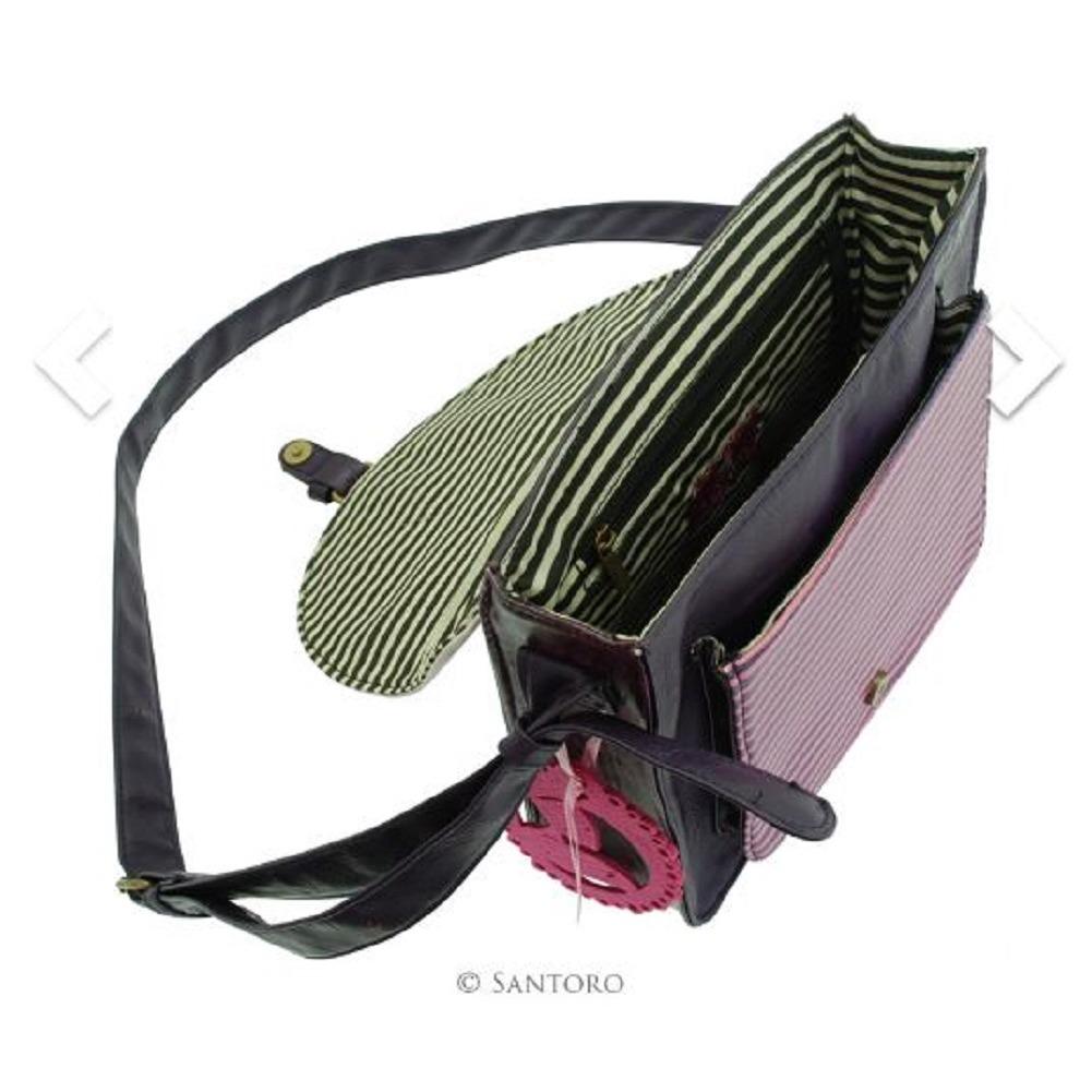 Santoro London Handbag Purse Gorjuss Coated Saddle Bag Striped The Dreamer