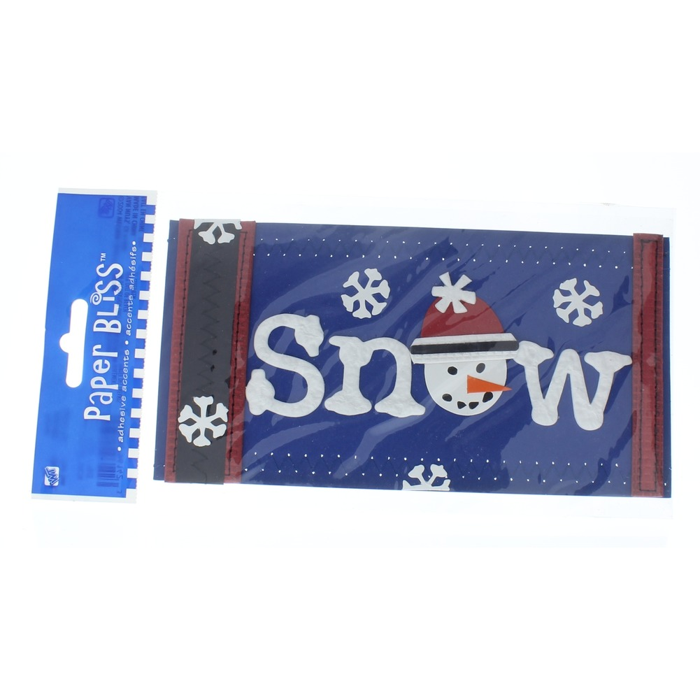 Paper Bliss Snow Border Trim Stickers Embellishments Card Making