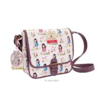 Santoro London Handbag Purse Gorjuss Coated Saddle Bag Pastel Pattern Ladybird