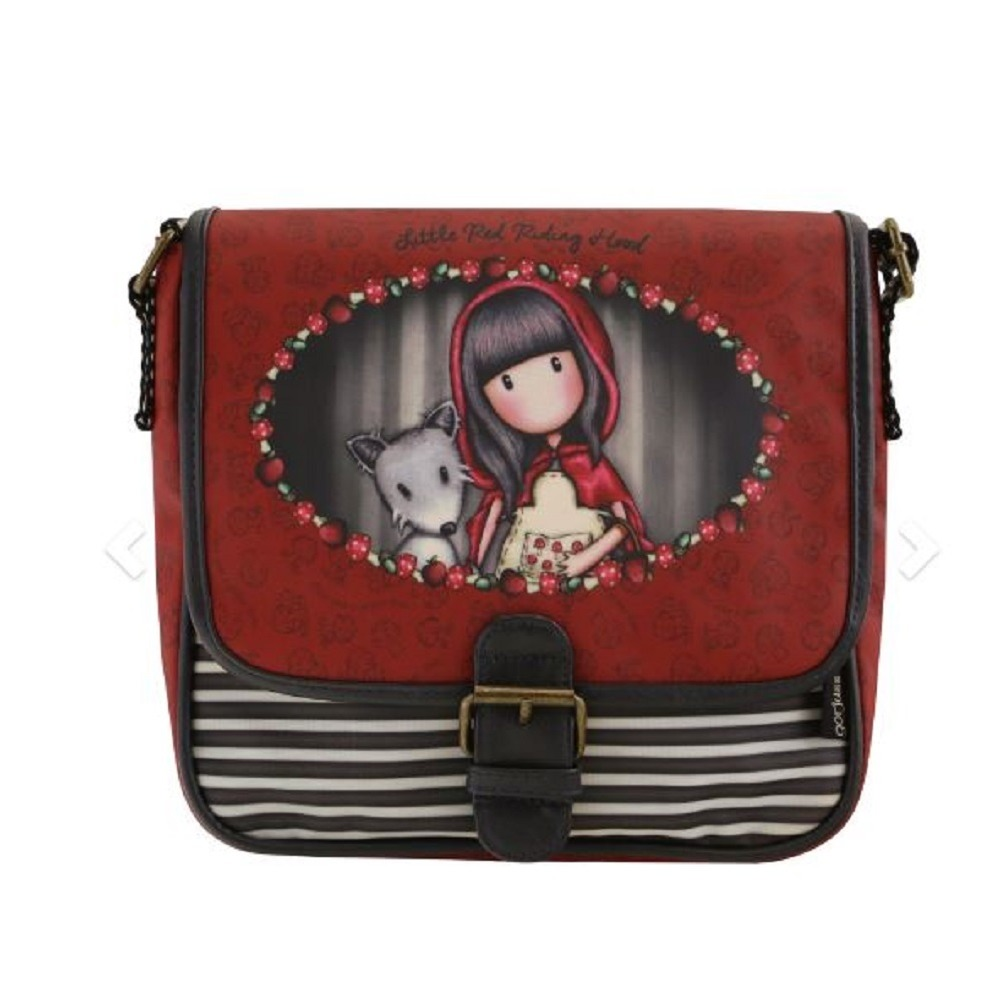 Santoro London Handbag Purse Gorjuss Coated Saddle Bag Little Red Riding Hood