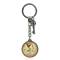 Santoro London Mirabelle Metal And Glass Key Chain If Only
