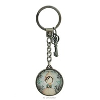 Santoro London Mirabelle Metal And Glass Key Chain Persuit Of Happiness