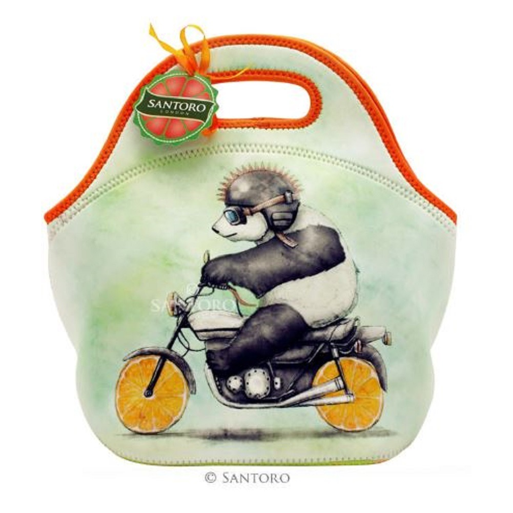 Santoro London Handbag Purse Neoprene Lunch Bag Fruity Scooty Panda