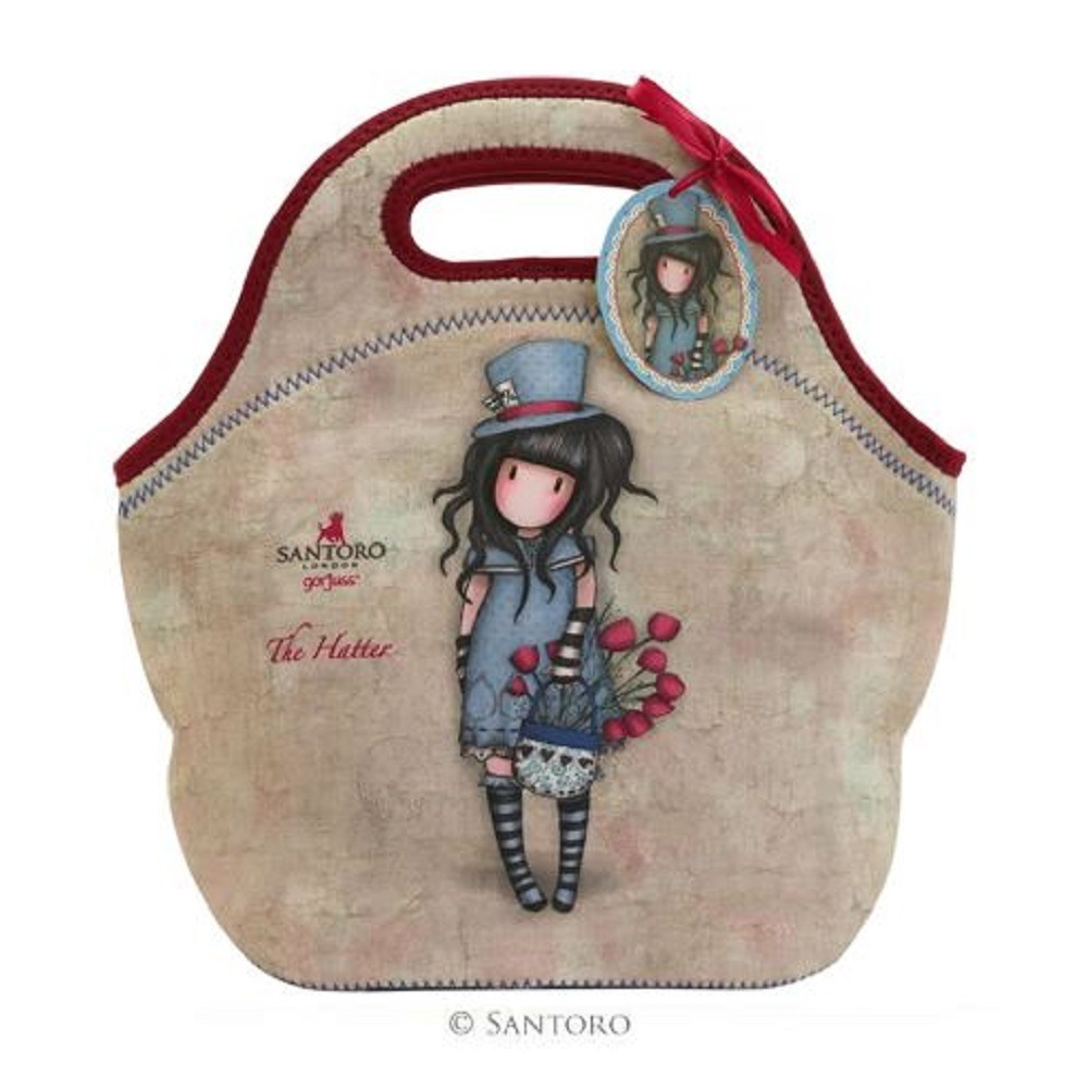 Santoro London Handbag Purse Neoprene Lunch Bag The Hatter