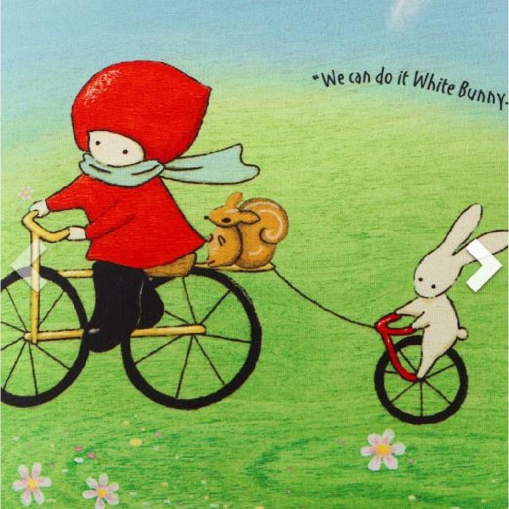 Santoro London Handbag Purse Neoprene Lunch Bag Poppi Loves Cycling Bunny Rabbit