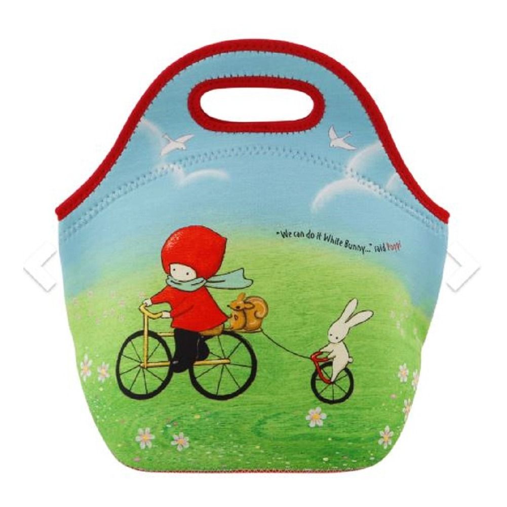 Santoro London Handbag Purse Neoprene Lunch Bag Poppi Loves Cycling Bunny Rabbit