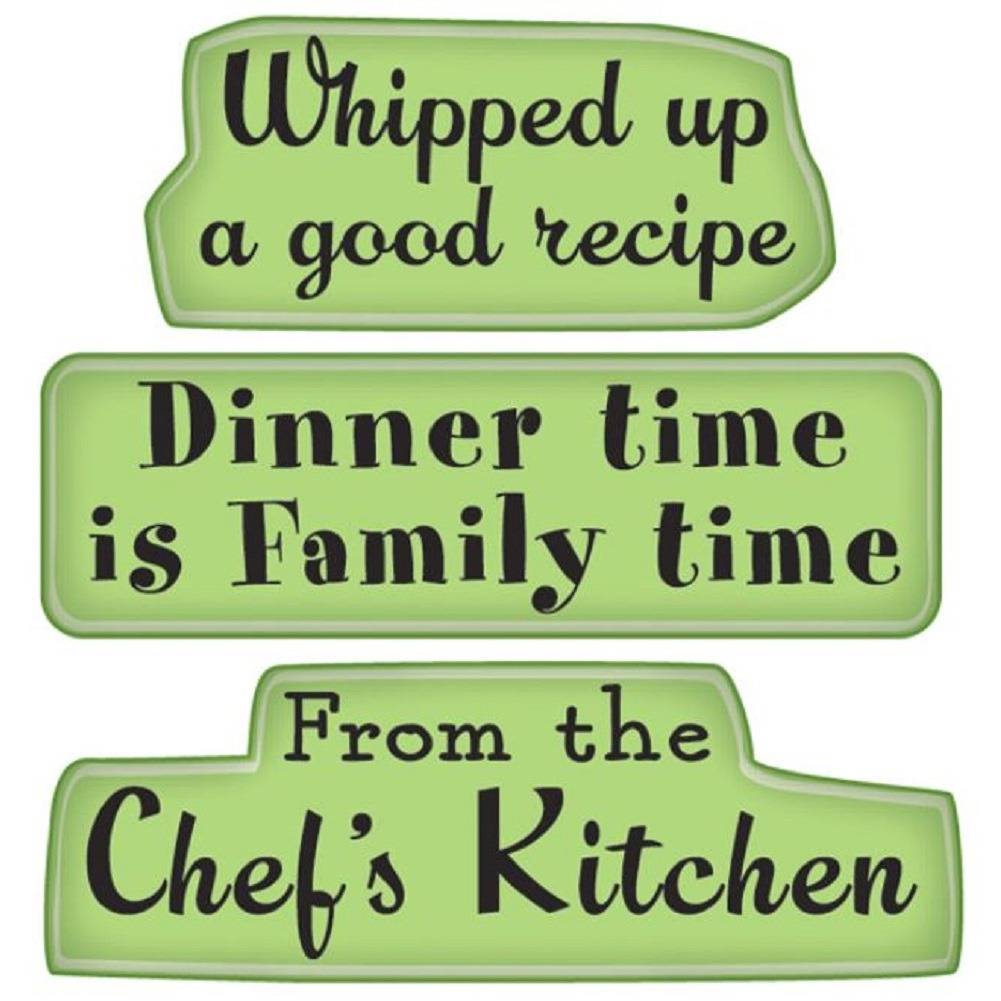 Inkadinkado From the Chef's Kitchen Dinner Time Recipe Cling Rubber Stamp