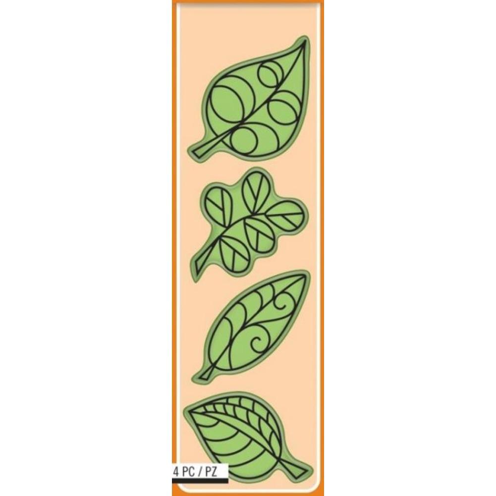 Inkadinkado  Whimsical Falling Leaf Leaves Icons Autumn Tree Cling Rubber Stamp