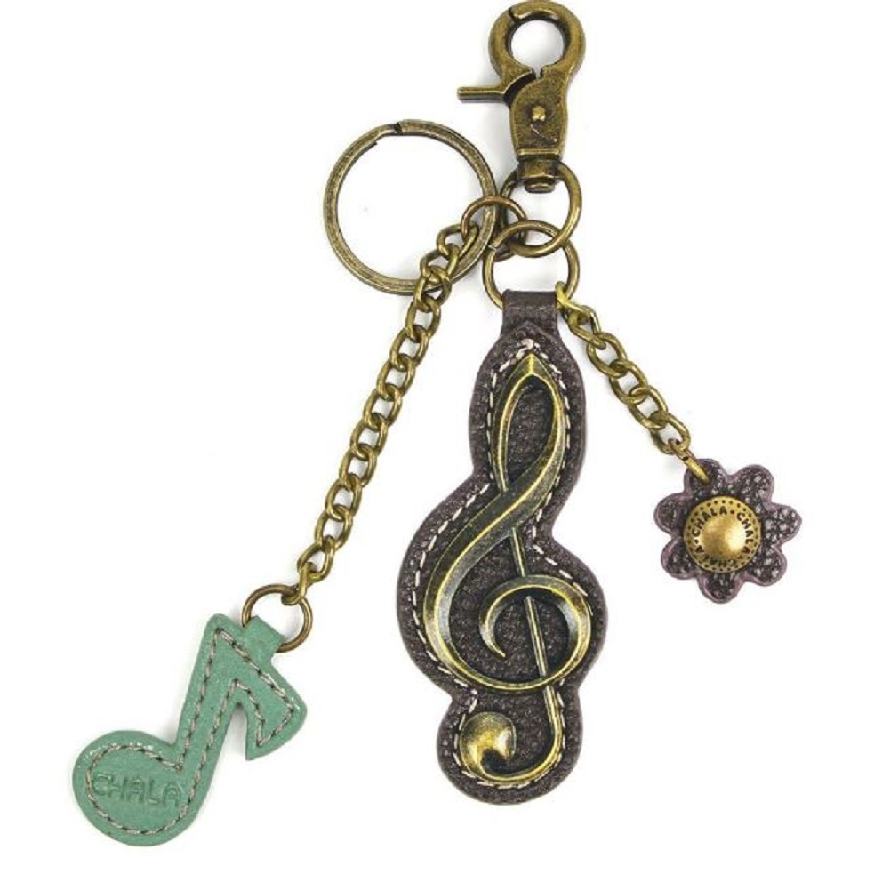Chala G Clef Musical Note Music Charming Key Chain Purse Bag Fob Charm