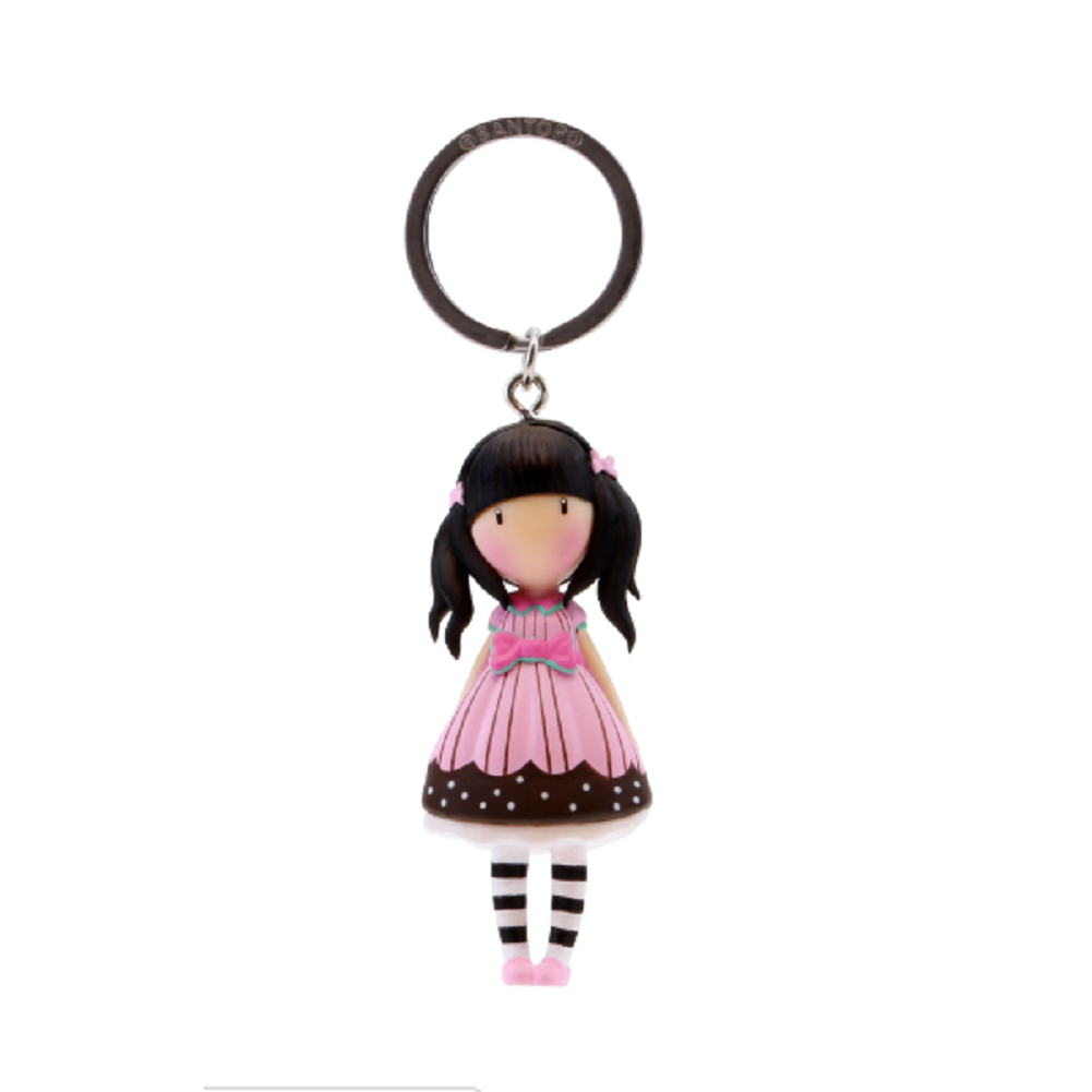 Santoro London Gorjuss Sugar and Spice Figurine Keyring Key Chain Charm