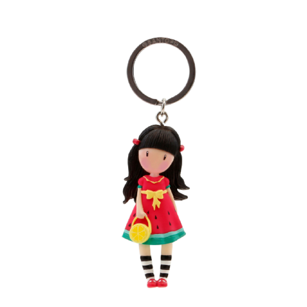 Santoro London Gorjuss Every Summer has a Story Figurine Keyring Key Chain Charm