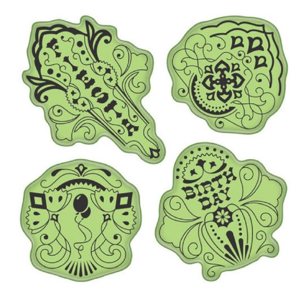 Inkadinkado Stamping Gear Birthday Fiesta Celebration Party Cling Rubber Stamp