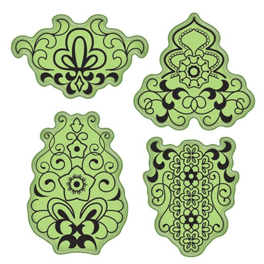 Inkadinkado Mehndi Merakesh Inspired floral design Cling Rubber Stamp