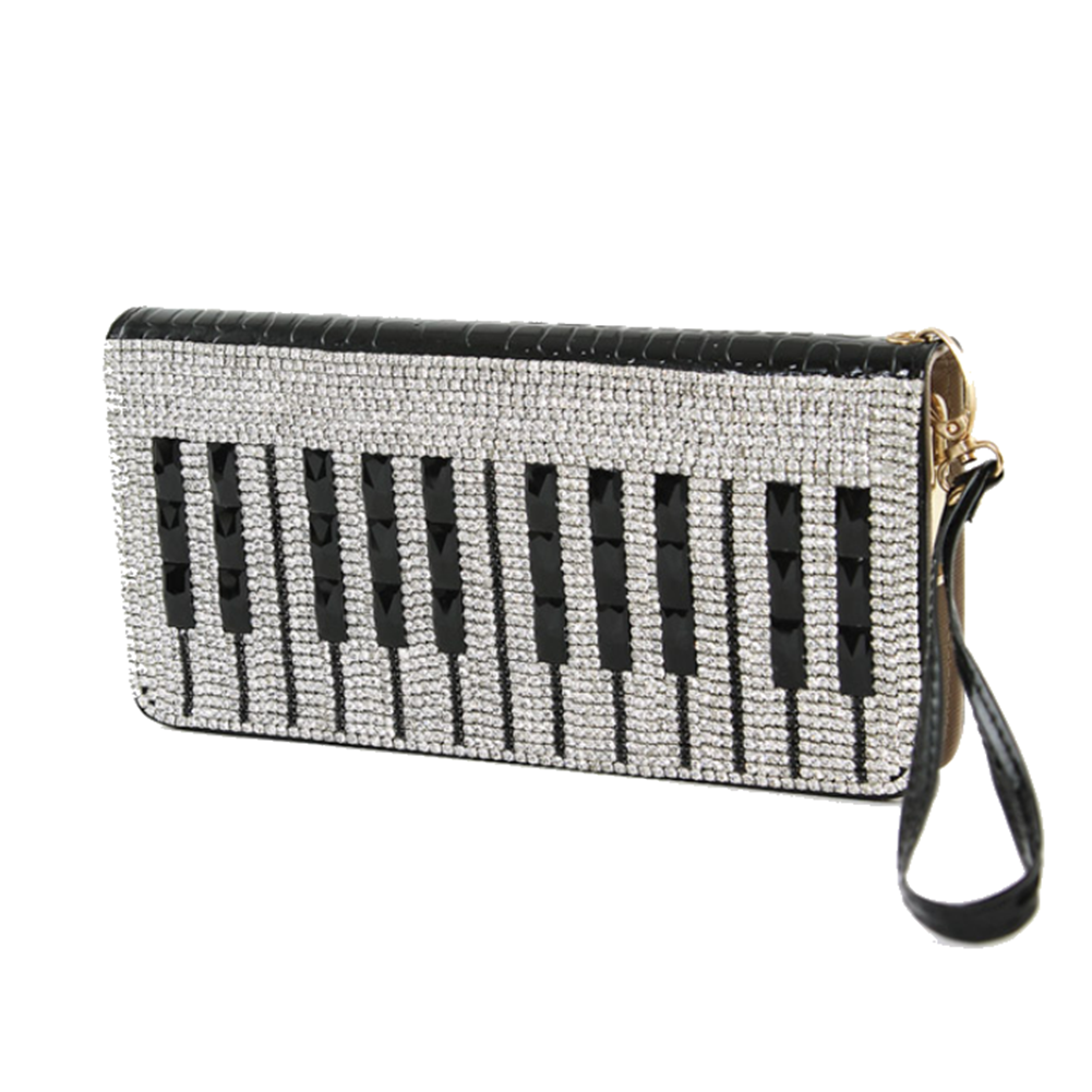 Musically Inspired Musical Piano Keyboard Clutch Wallet