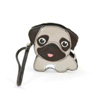 Sleepyville Critters Darling Pug Puppy Dog Zippered Coin Purse