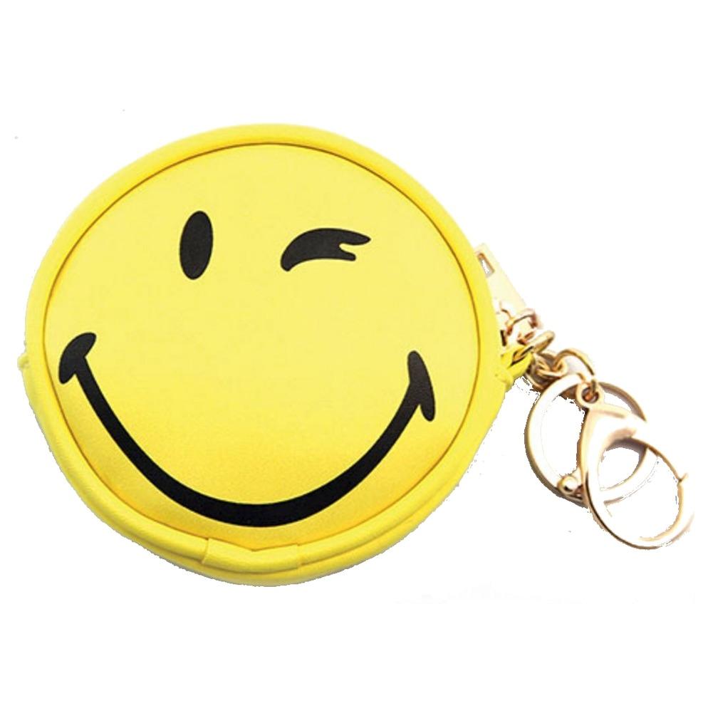 Sleepyville Emoji Winking Key Chain coin purse for Bag Handbag Purse