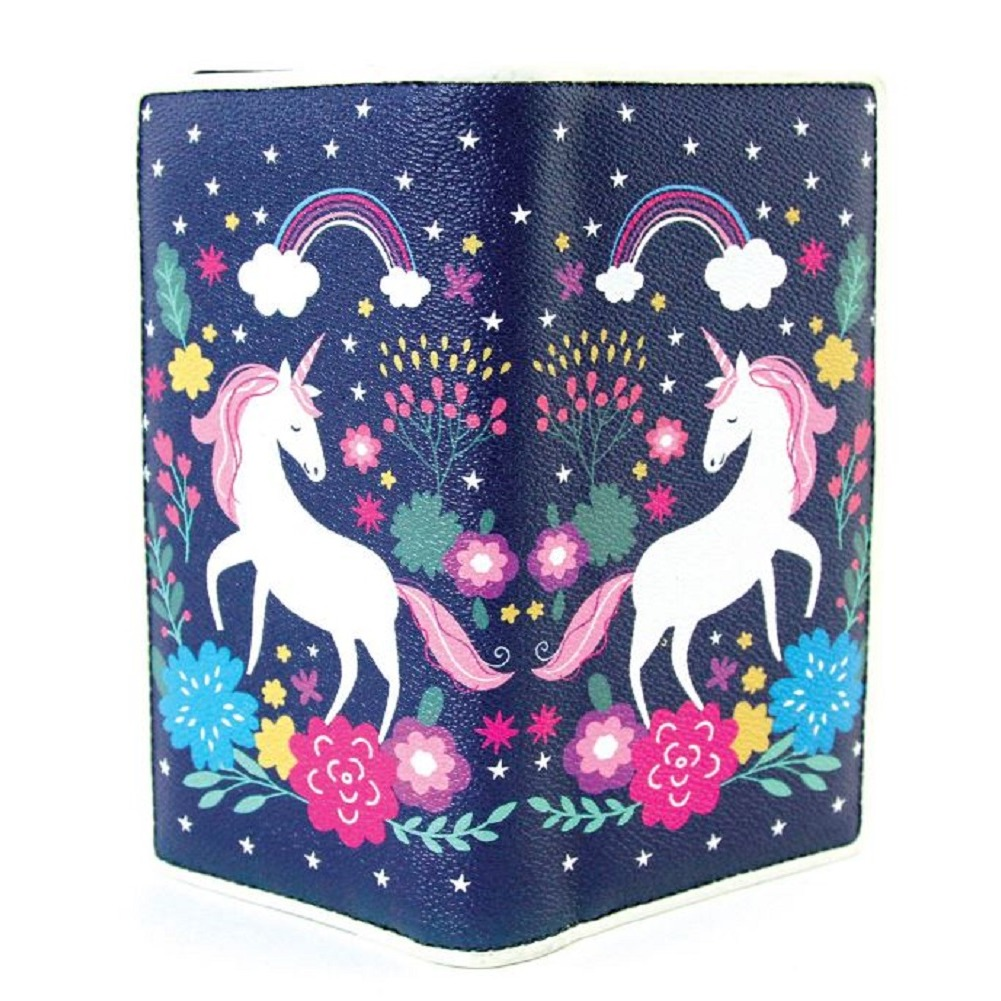 Sleepyville Critters Unicorn Wallet in Vinyl Material for Handbag Purse