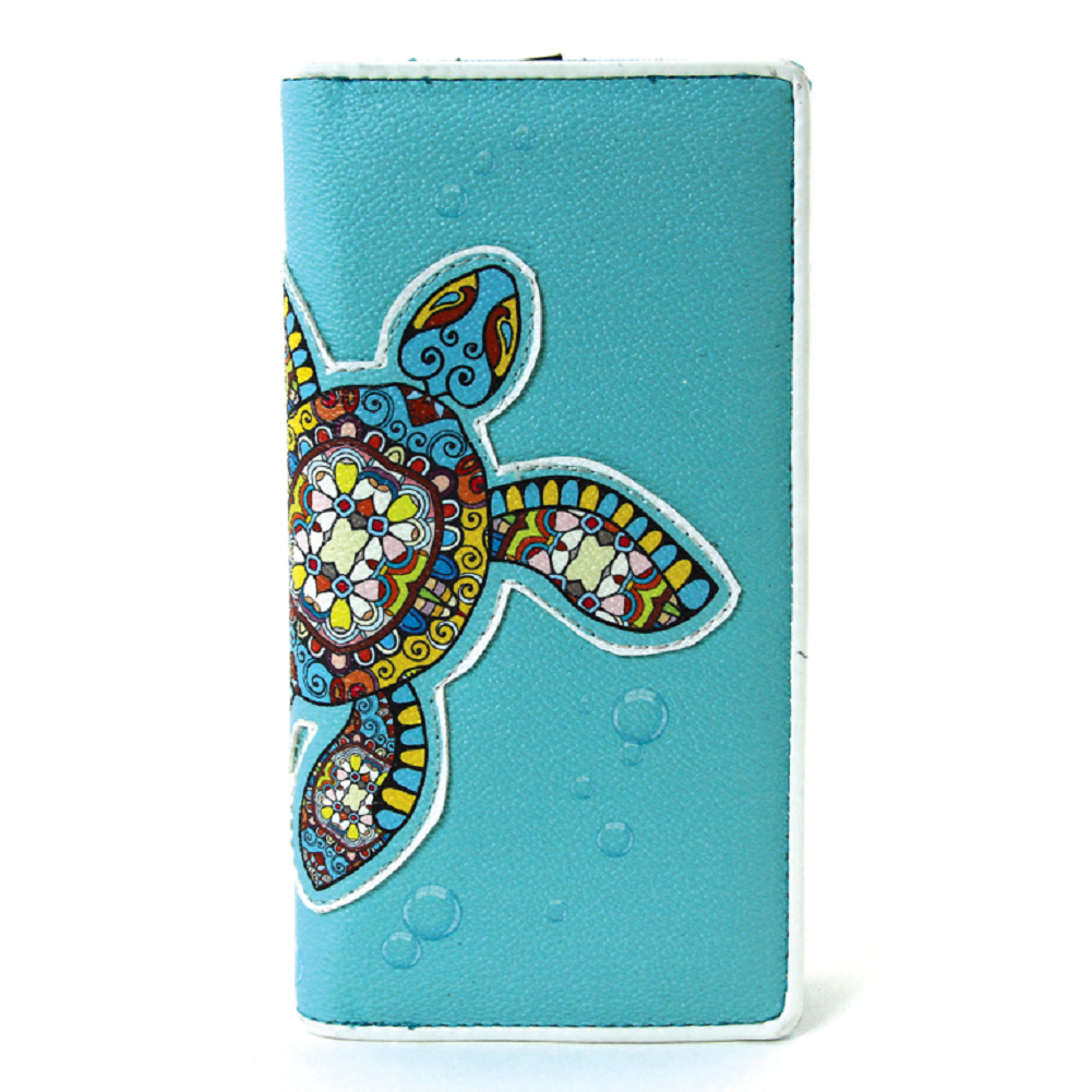 Sleepyville Critters Sea Turtle Wallet in Vinyl Material for Handbag Purse