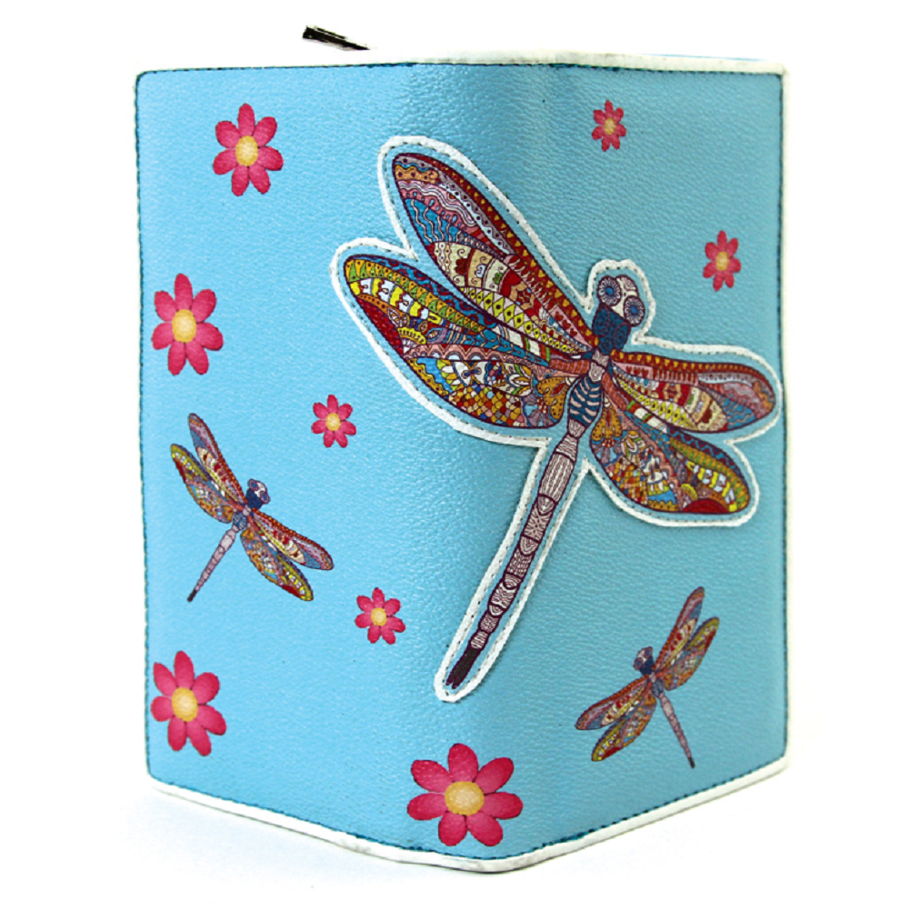 Sleepyville Critters Dragonfly Wallet in Vinyl Material for Handbag Purse
