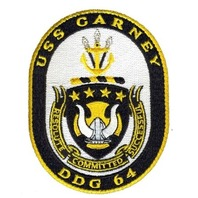 USS Carney DDG 64 Military Uniform Patch Resolute Committed Successful