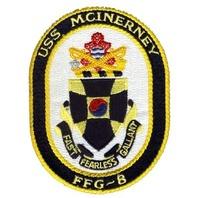 US Naval Ship USS McInerney FFG-8 Uniform Patch