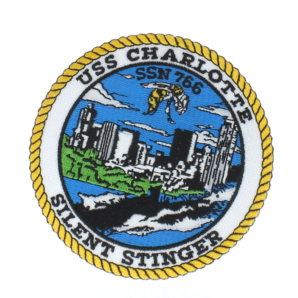 United States Navy USS Charlotte Silent Stinger Uniform Patch