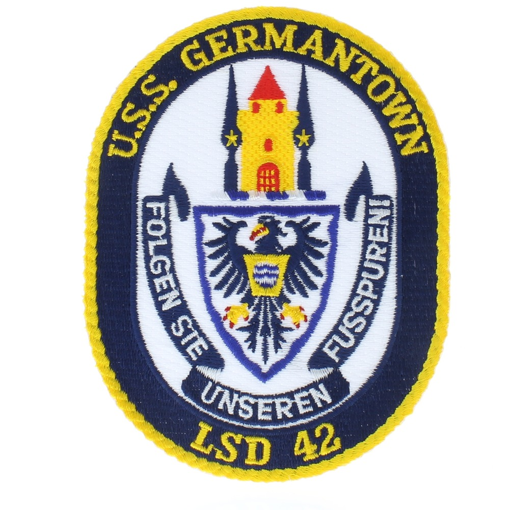 United States Navy USS Germantown LSD 42 Folgen Ste Uniform Patch