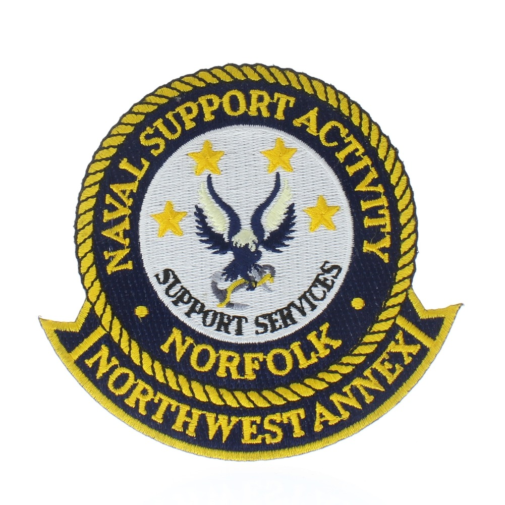 United States Navy Naval Support Activity Norfolk Services Uniform Patch