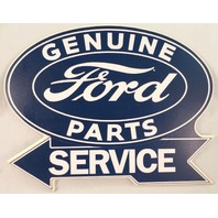 Genuine Ford Parts And Service Man Cave Garage Wooden Wall Plaque Sign