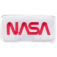 Nasa Logo Rectangle Red and White Uniform Patch