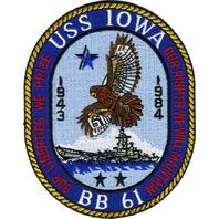 USS Iowa BB 61 Uniform Patch