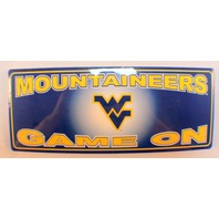 West Virginia Mountaineers Wv Wooden Table Sign Wall Plaque New