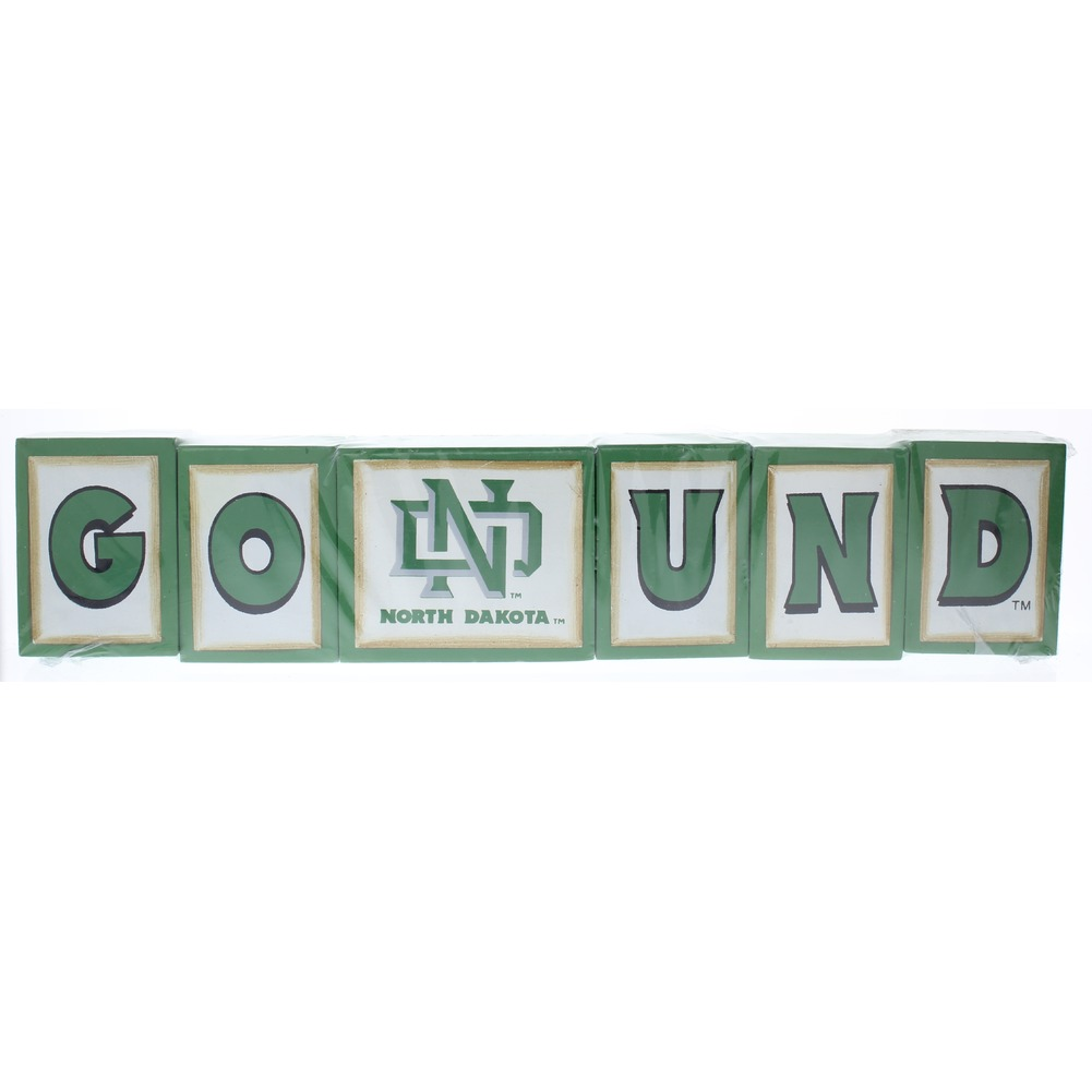 Go UND  University of North Dakota  College Licensed Decor Blocks Hanna'S Handiworks New