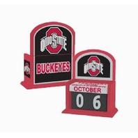 Ohio State Buckeyes Collegiate Licensed Wooden Perpetual Calendar