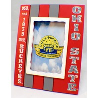 "Ohio State Buckeyes Collegiate Licensed Wooden Photo Picture Frame 4"" X 6"""