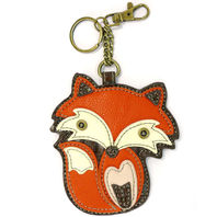 Chala Foxy Fox Western Inspired Key Chain Coin Purse Leather Bag Fob Charm