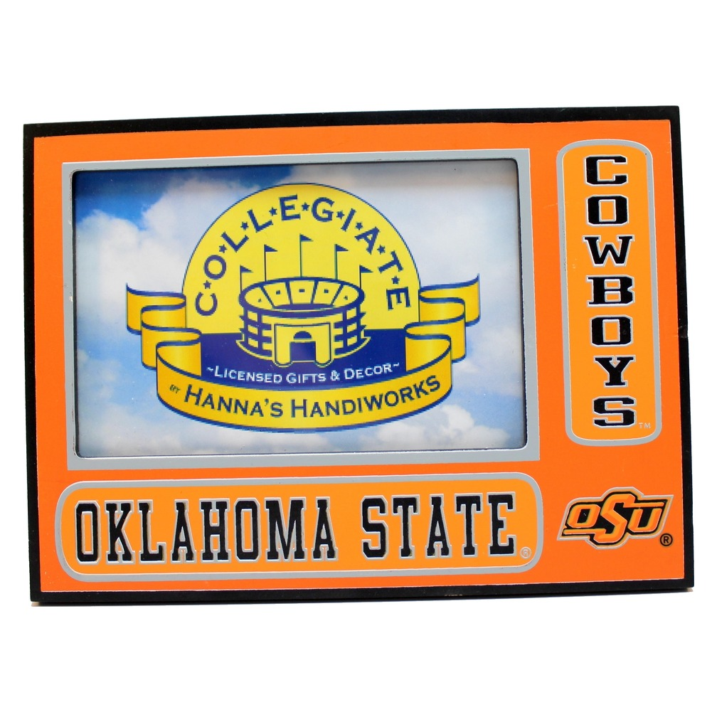 "OSU Oklahoma State Cowboys Collegiate 3.5"" x 5.5"" Licensed Wooden Picture Frame"