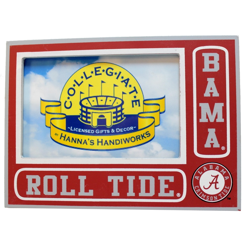 "Alabama Roll Tide Bama Collegiate 3.5"" x 5.5"" Licensed Wooden Photo Picture Frame"
