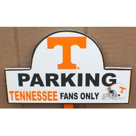 Tennessee Parking Fans Only Collegiate Licensed Wooden Team Sign