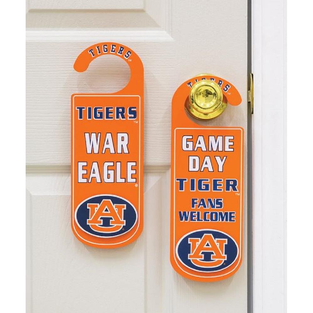 Door Knob Note Hanger Auburn University Game Day Tiger Fans School Spirit